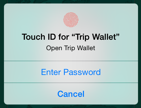 Touch ID shot using LAContext