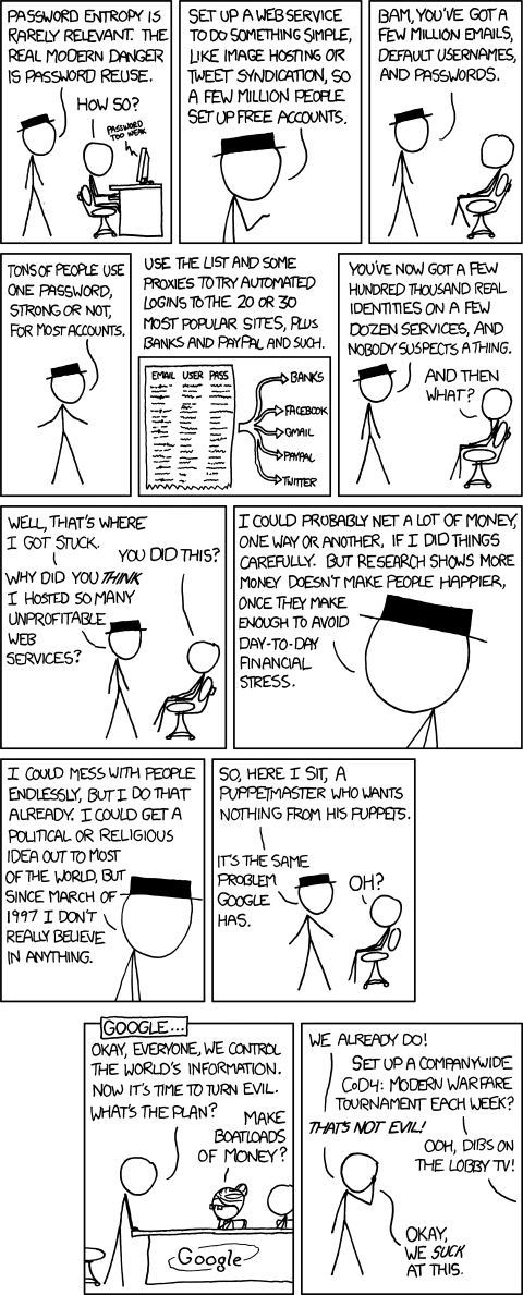 XKCD: Password reuse